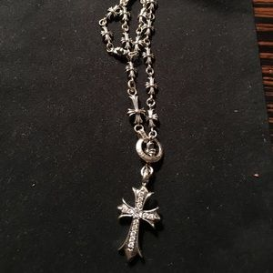 SOLD🔥Chrome Hearts Cross Chain With Diamond Cross